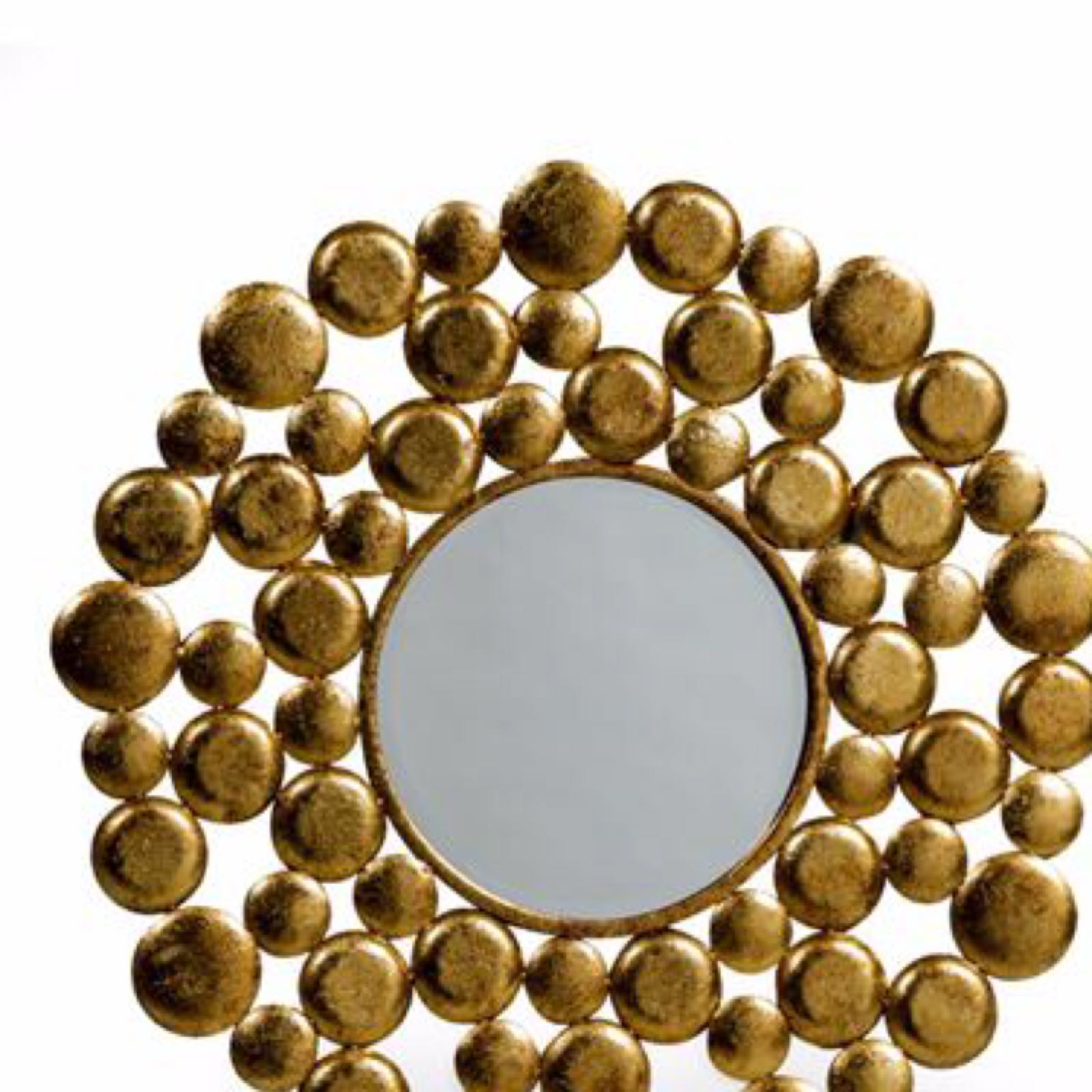 Gold bubble mirror