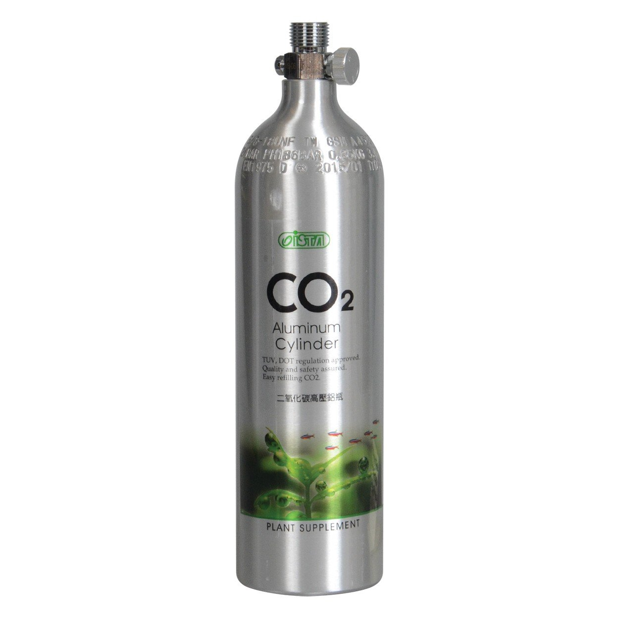 Ista Aluminum Co2 Cylinder 1L/0.85kg (Face Up)