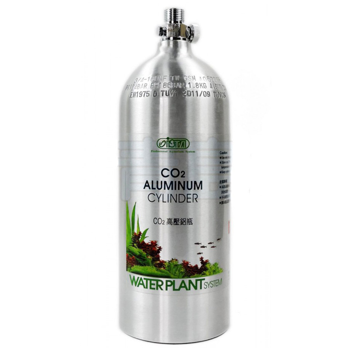 Ista Aluminum Co2 Cylinder 2L/1.8kg (Face Up)