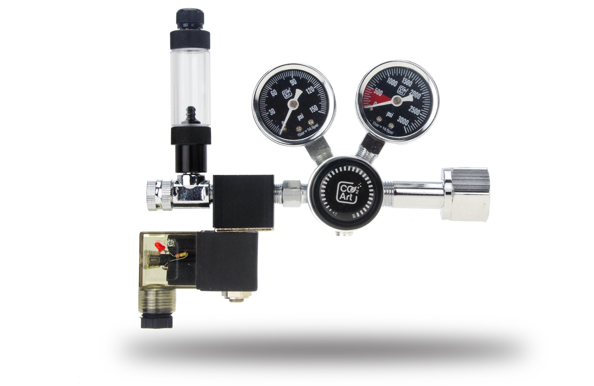 Co2 Art PRO-SE Series - Aquarium CO2 Dual Stage Regulator with Integrated Solenoid