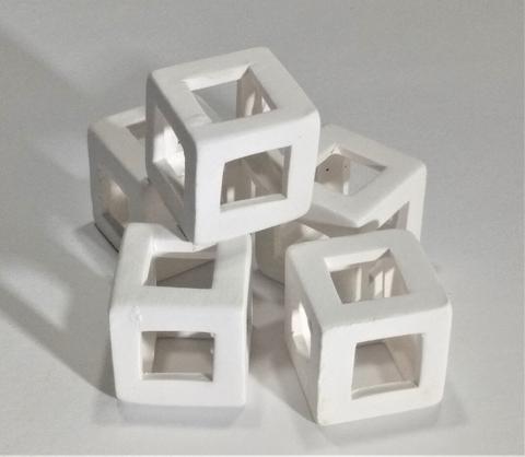 Shrimp Hide white cube