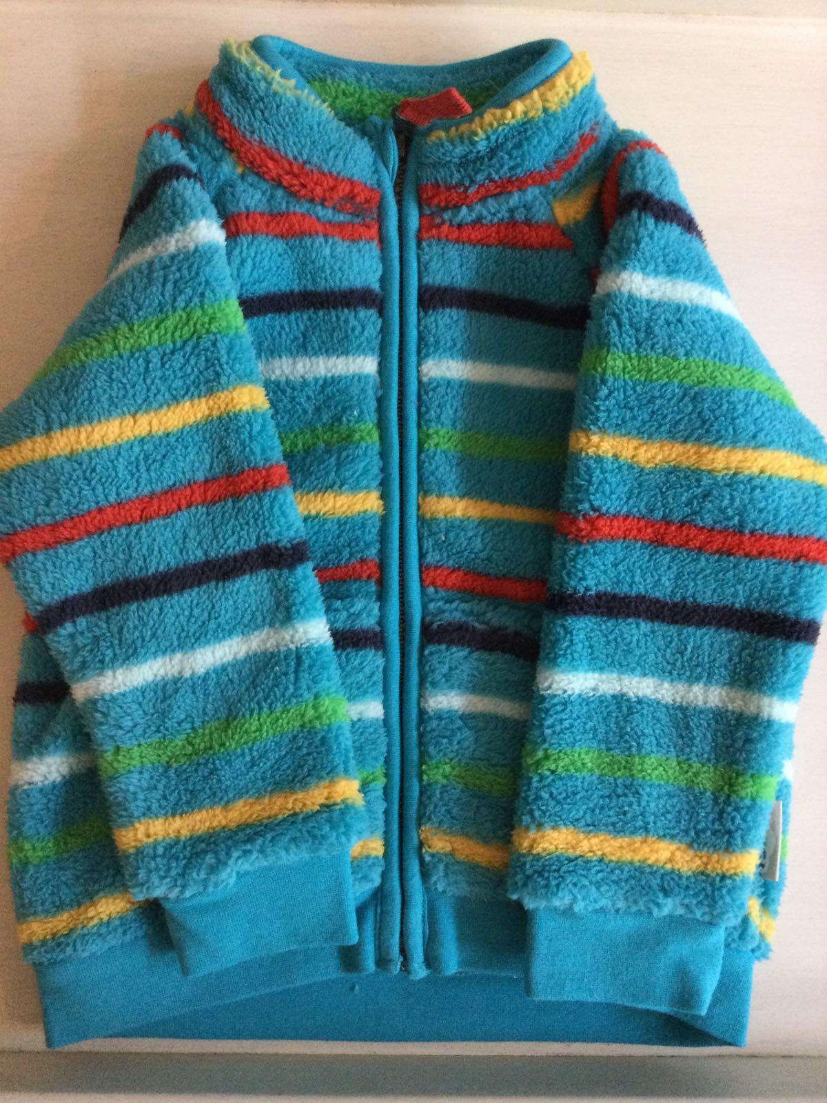 Frugi - Ted fleece  - tobemory Rainbow Stripe