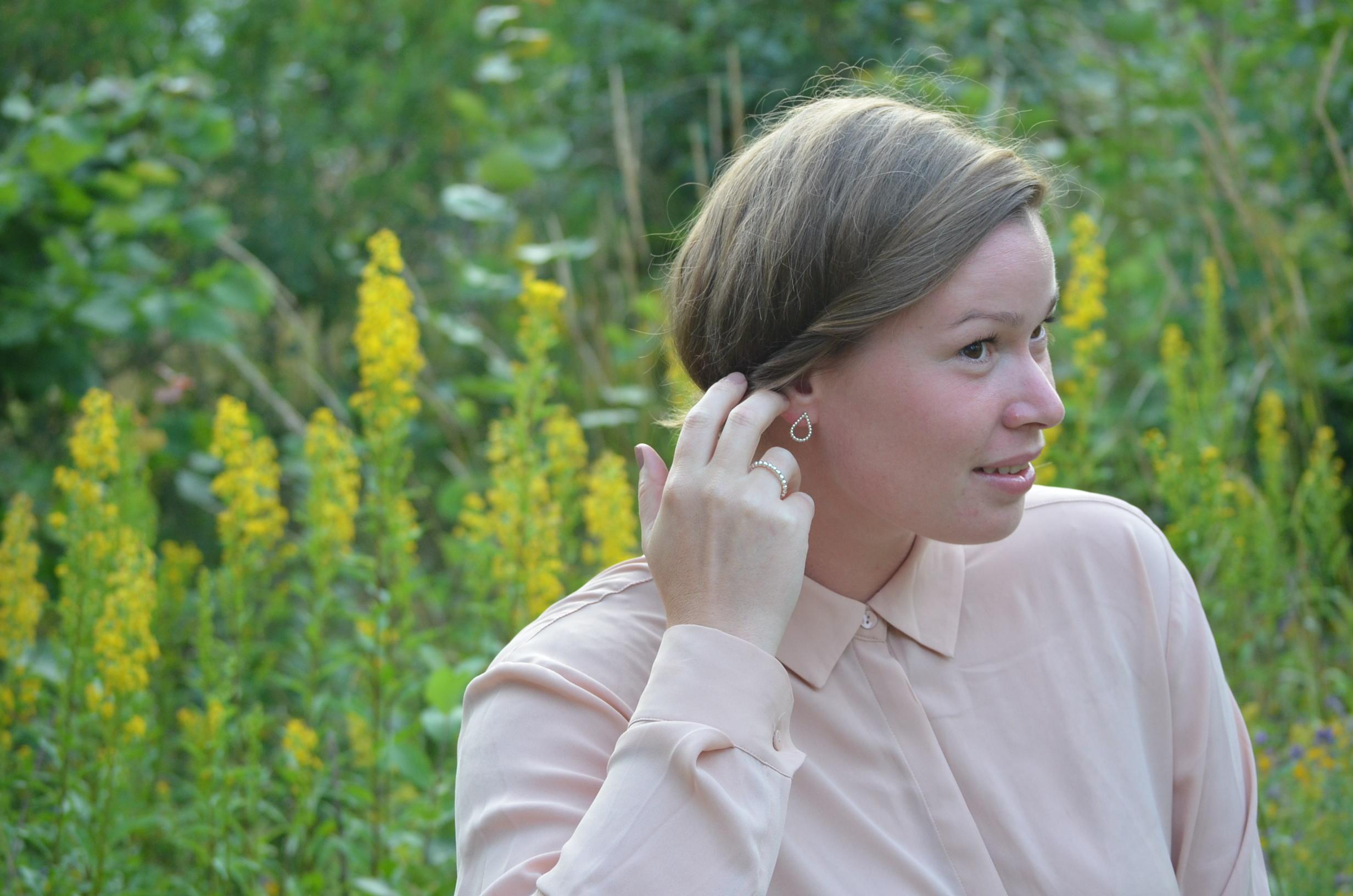 Droppar Småsten Örhänge
