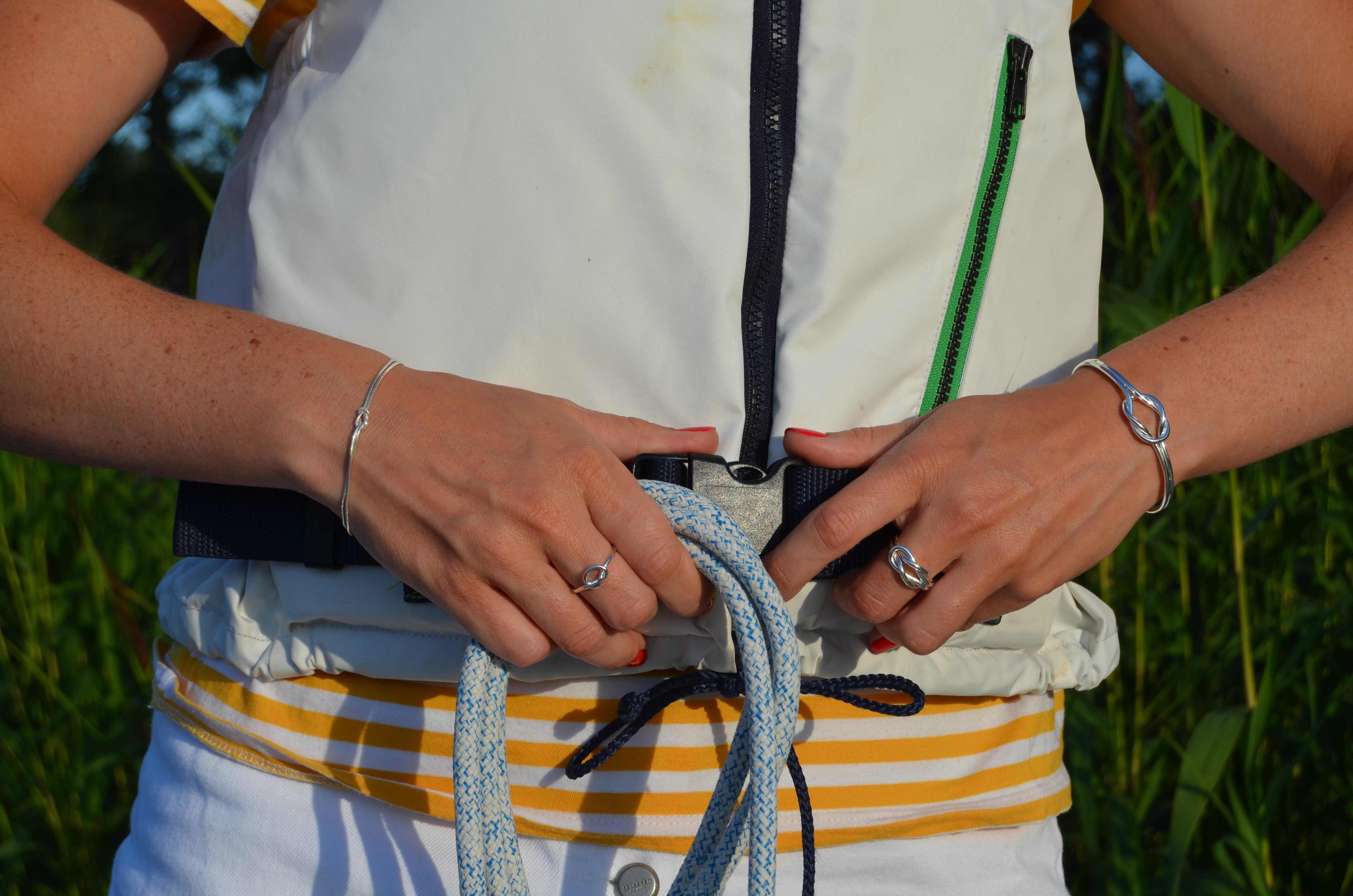 Råbandsknop Armband Kedja