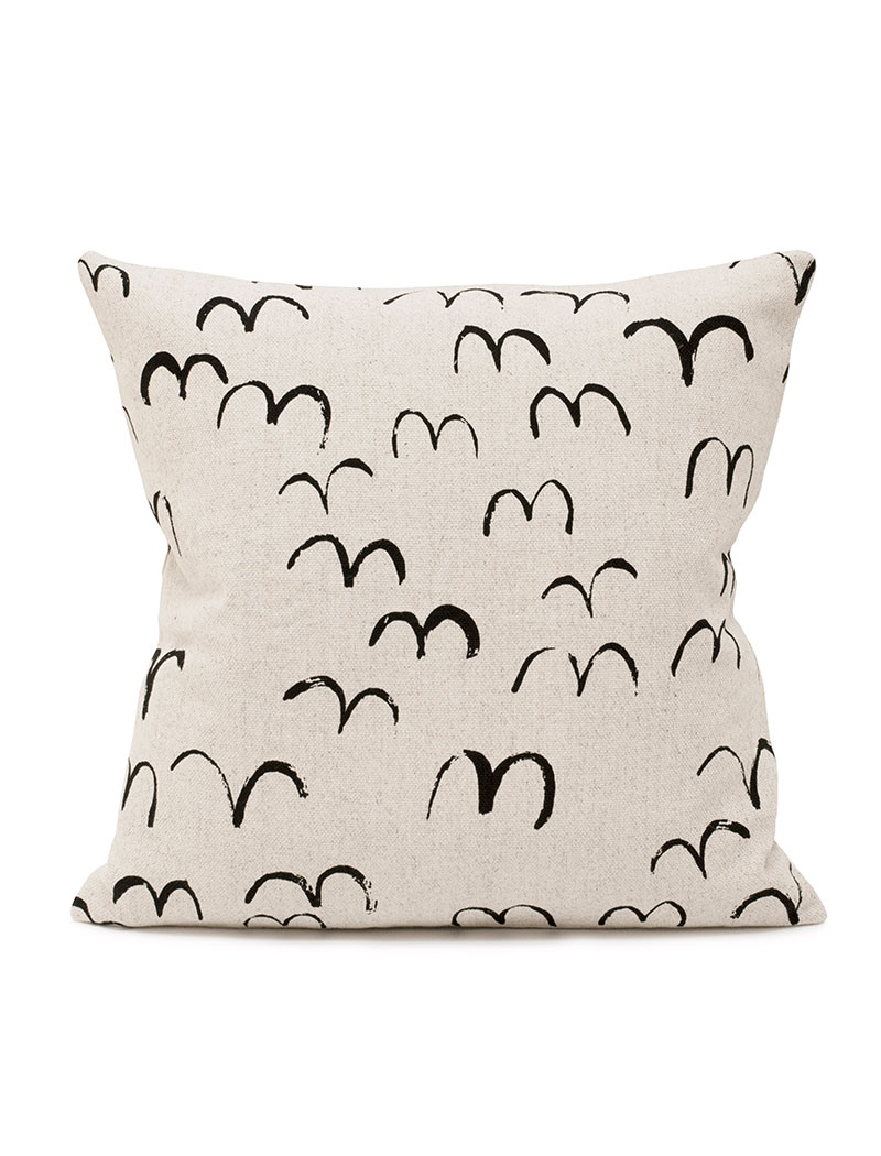 Bird Cushion Cover Black