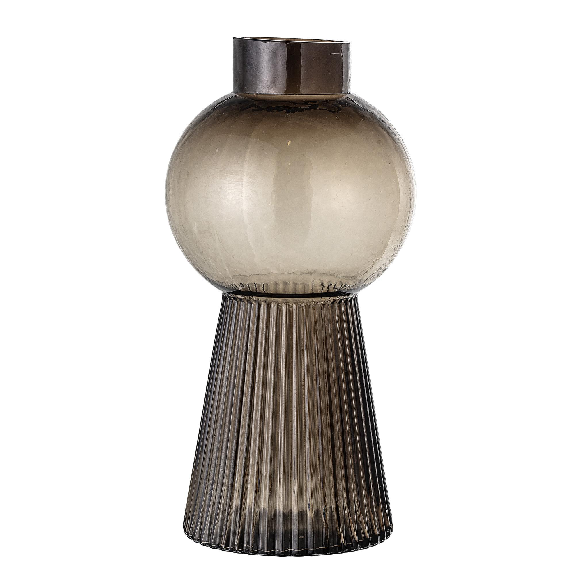 Smoked glass vase - large