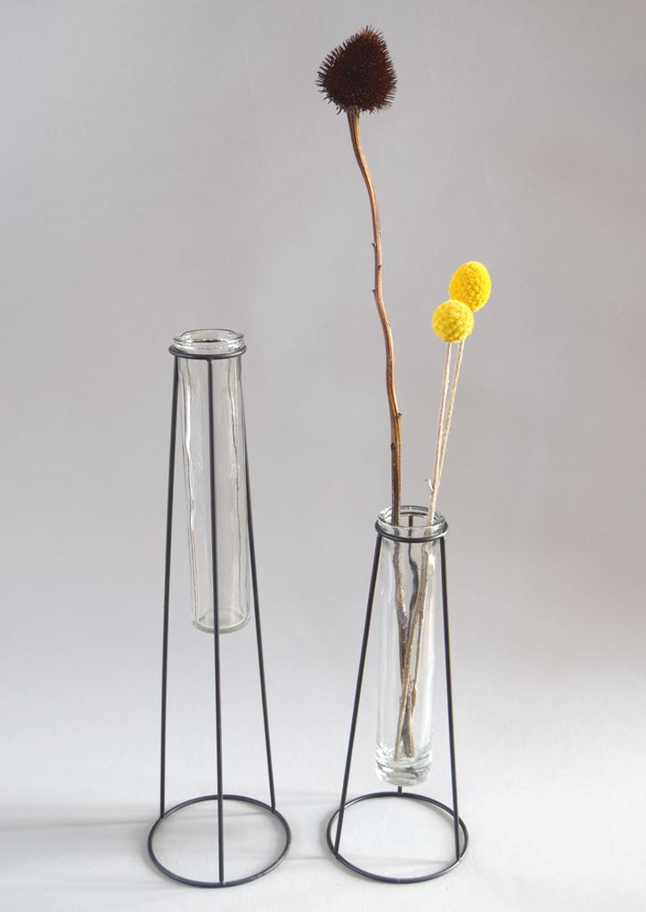 Glass stem vase