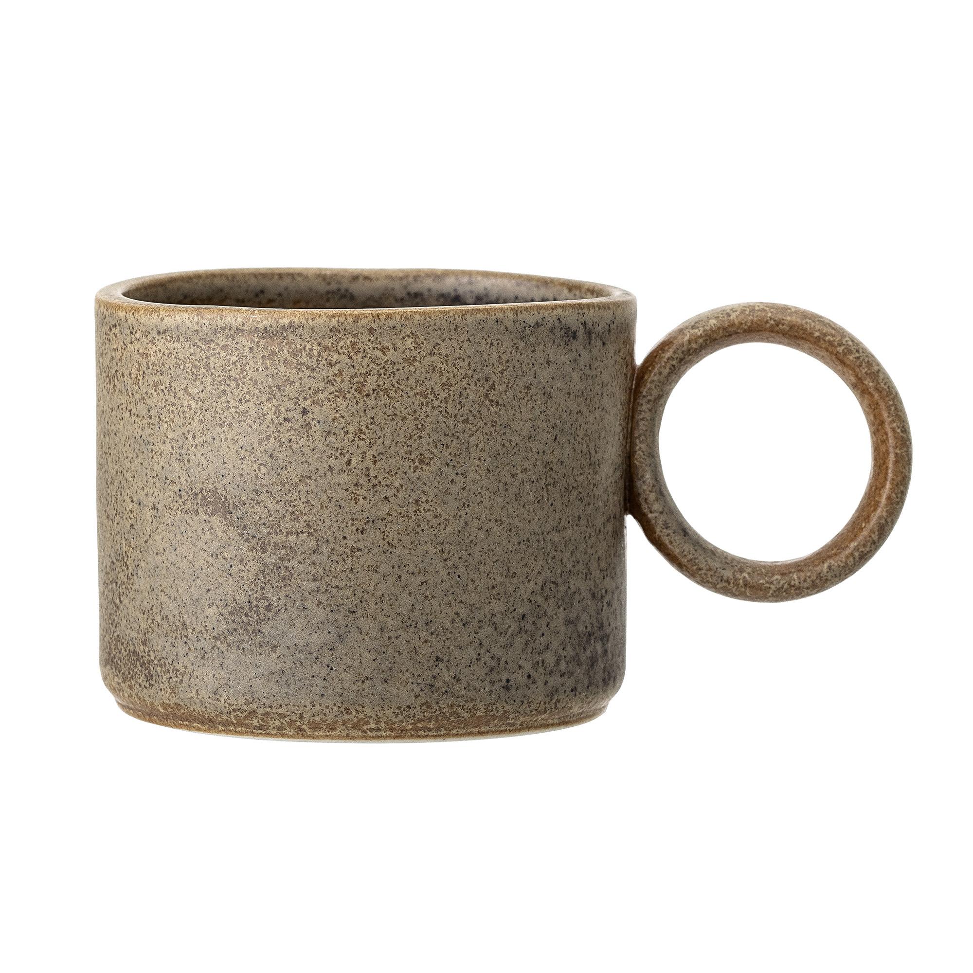 Circle handle coffee cup