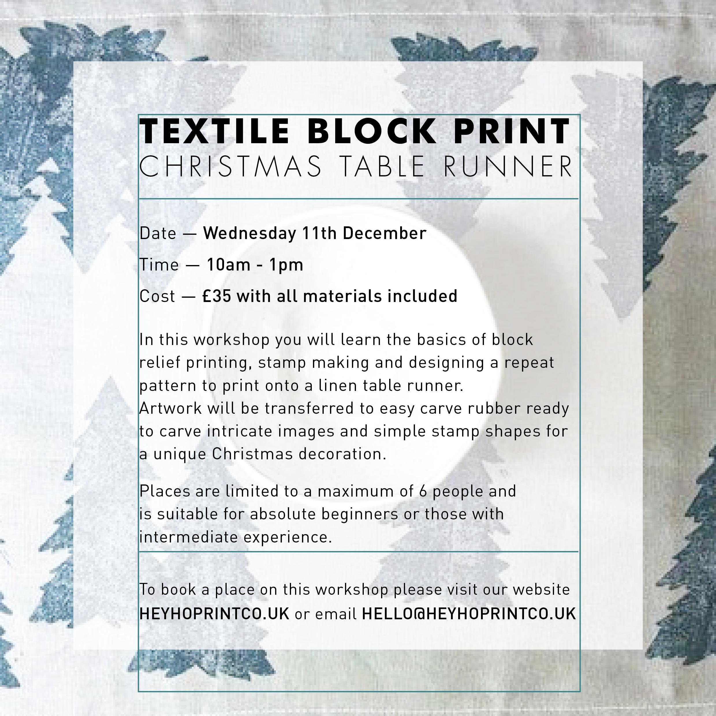 Christmas Block Printing - Wednesday 11th December