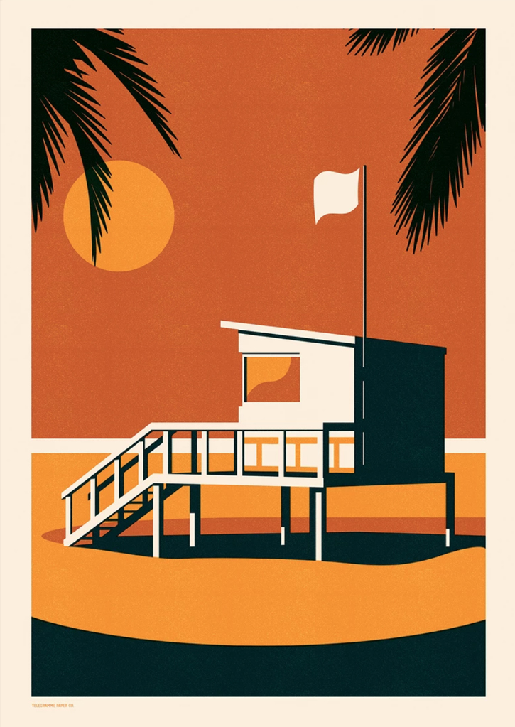 Endless Summer - Lifegaurd -Screenprint