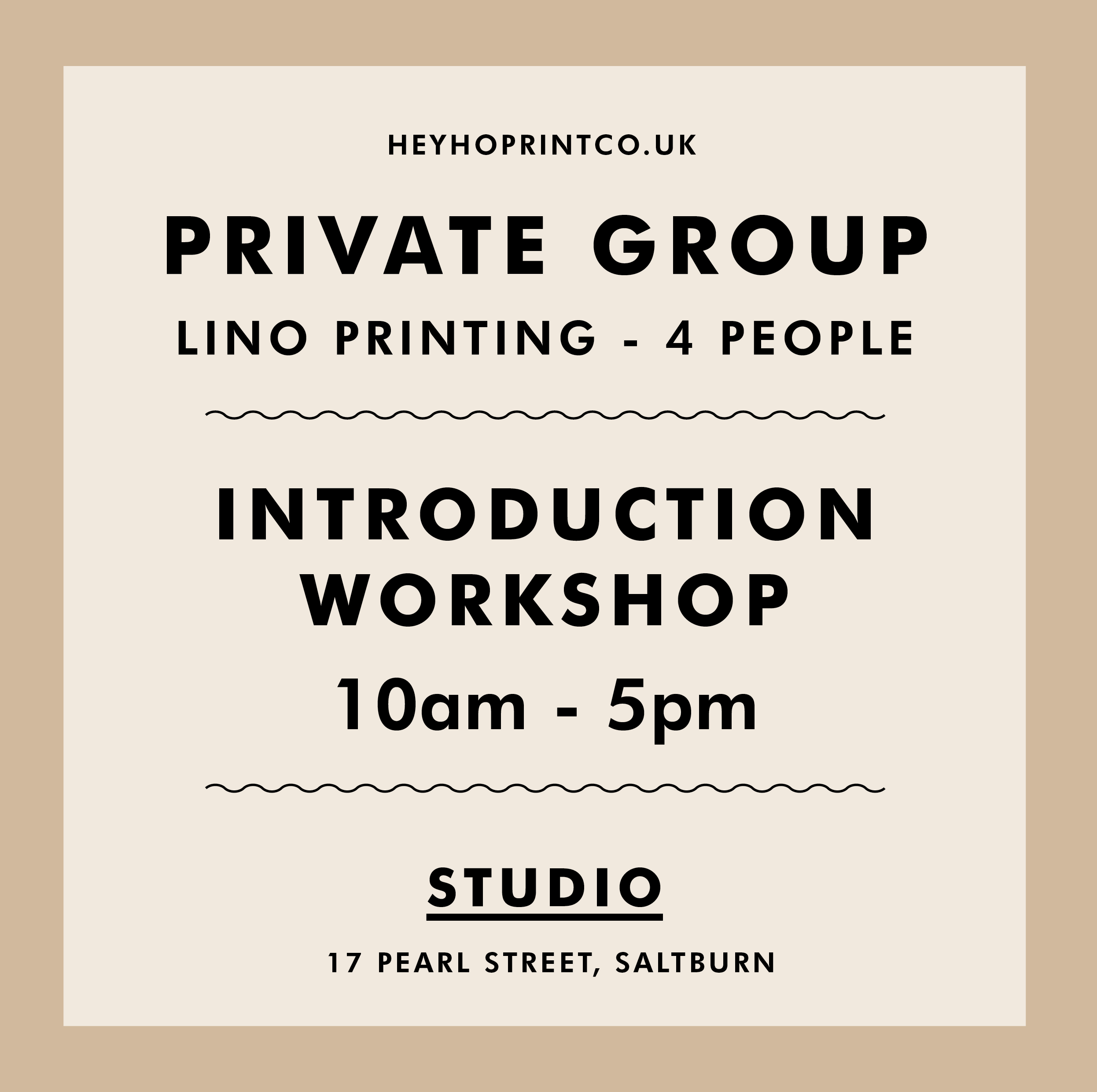 Private Group Lino Printing Workshop