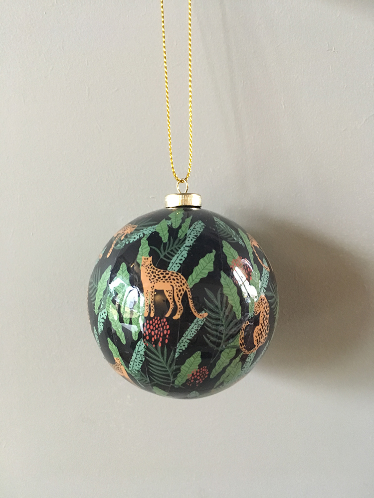 Papier Mache jungle baubles