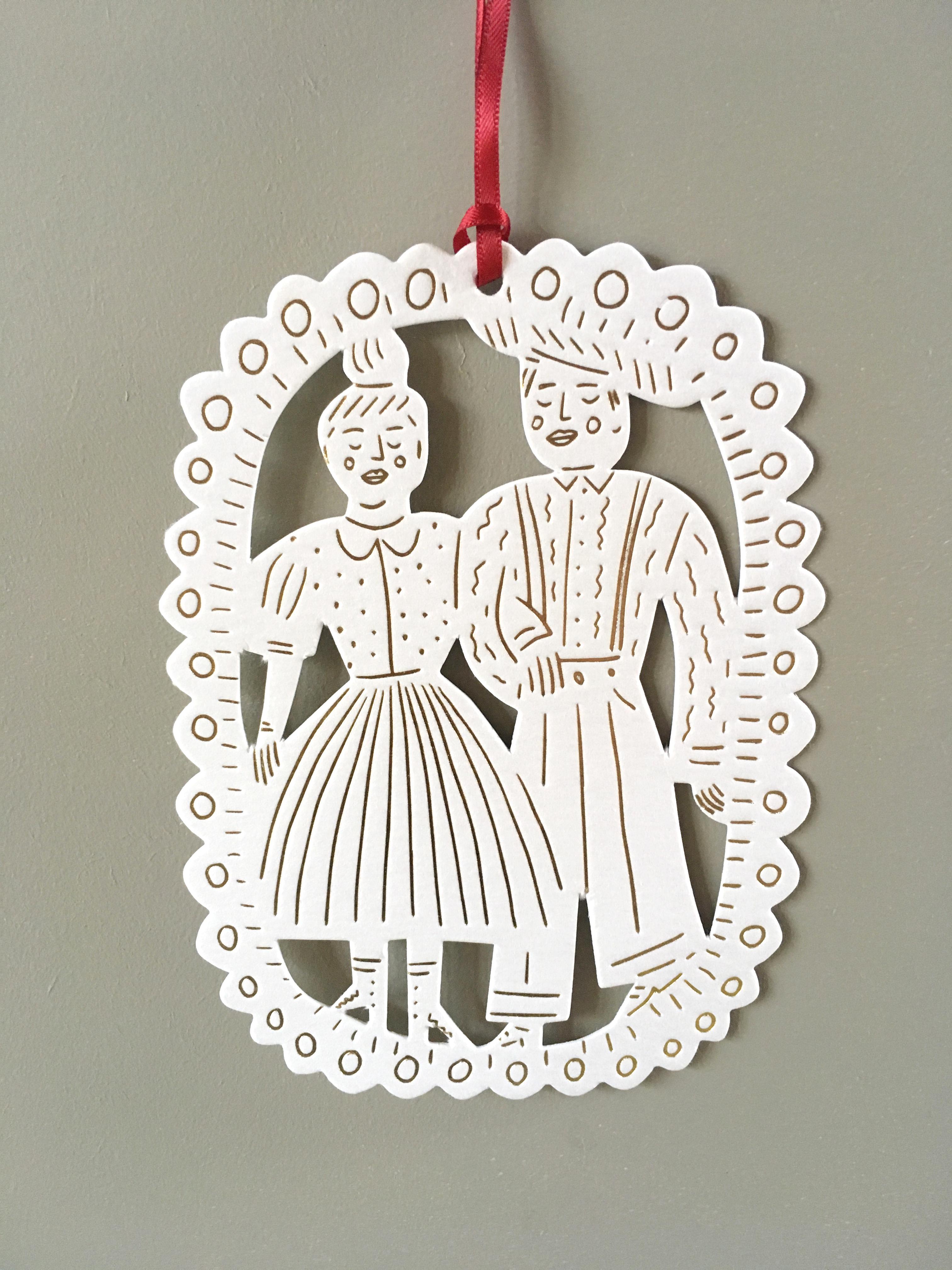 Letterpress Paper hanging decoration