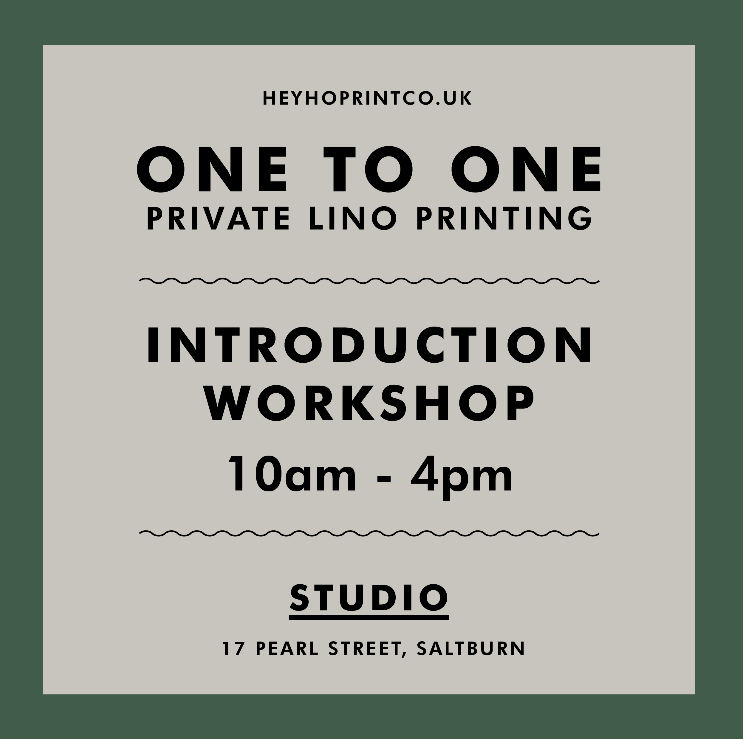 One to One Private Lino Printing Workshop