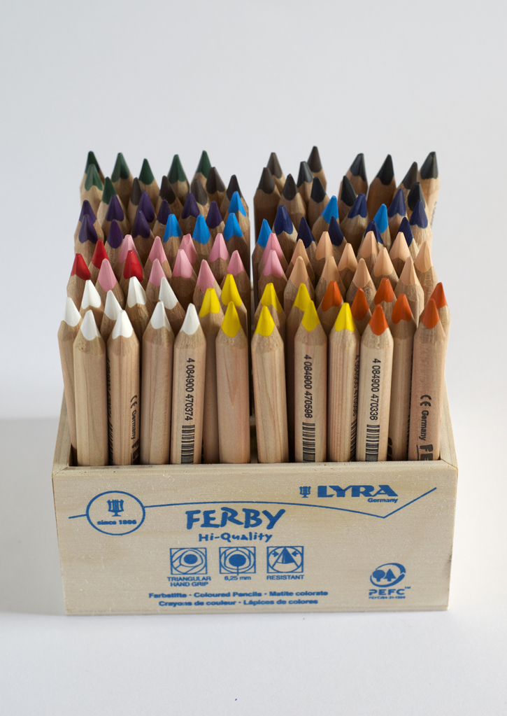 Ferby coloured pencils - stumpy
