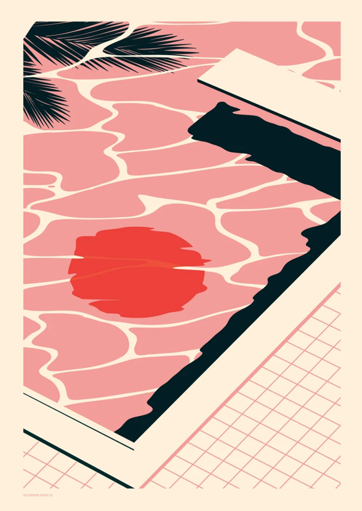 Endless Summer -Pool - Screenprint