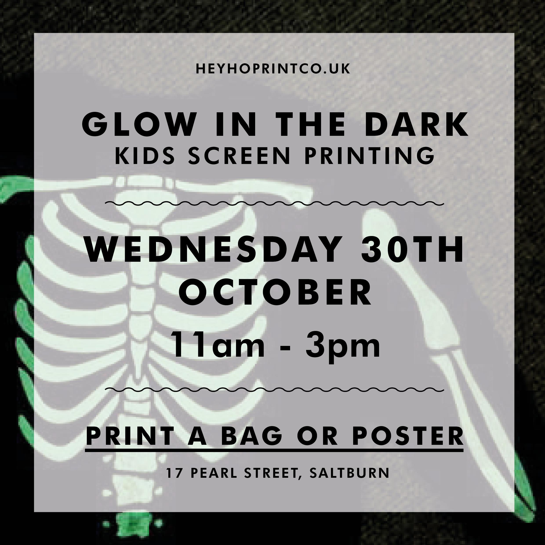 Halloween Kids Screen Printing workshop