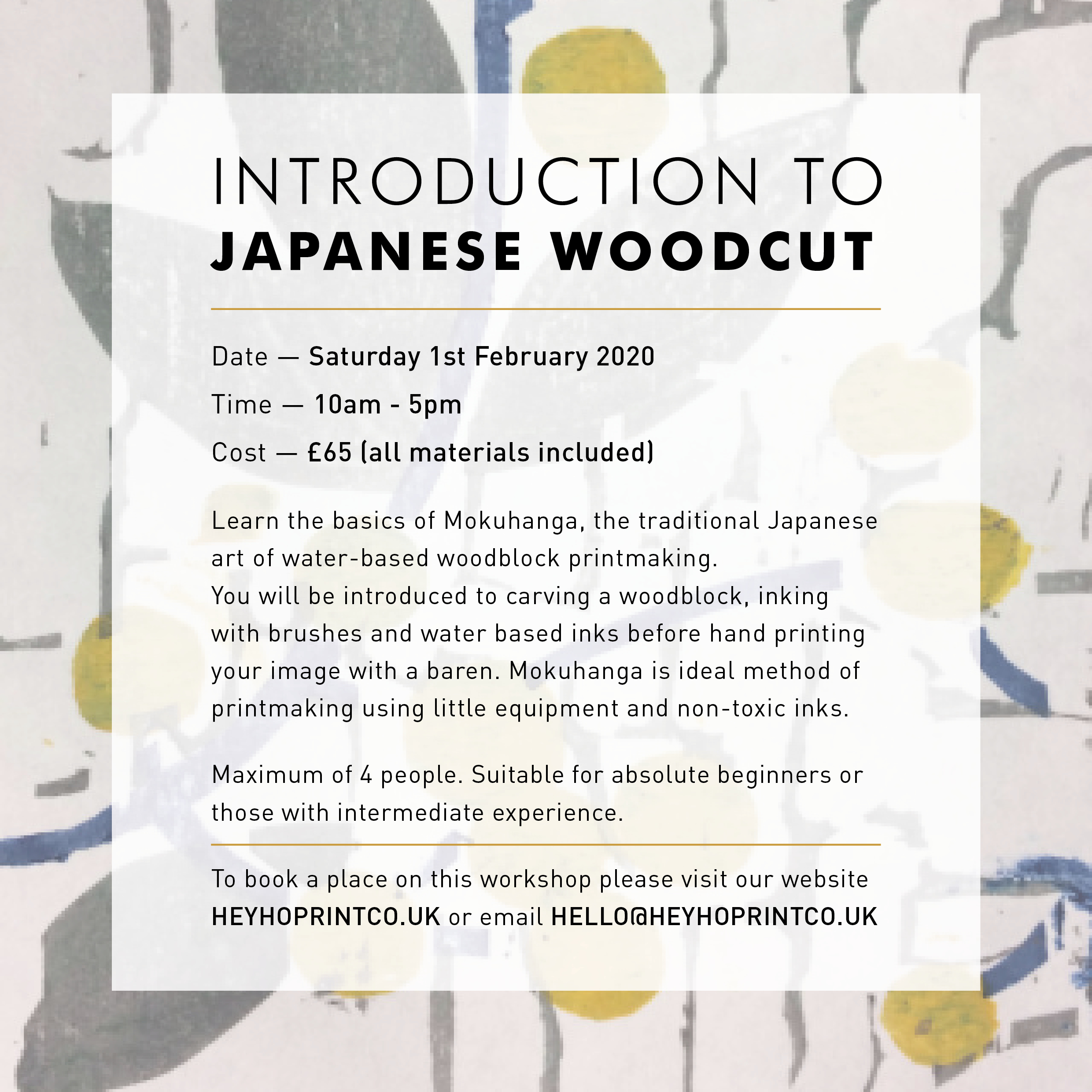 Introduction to Japanese Woodcut - February 1st 2020