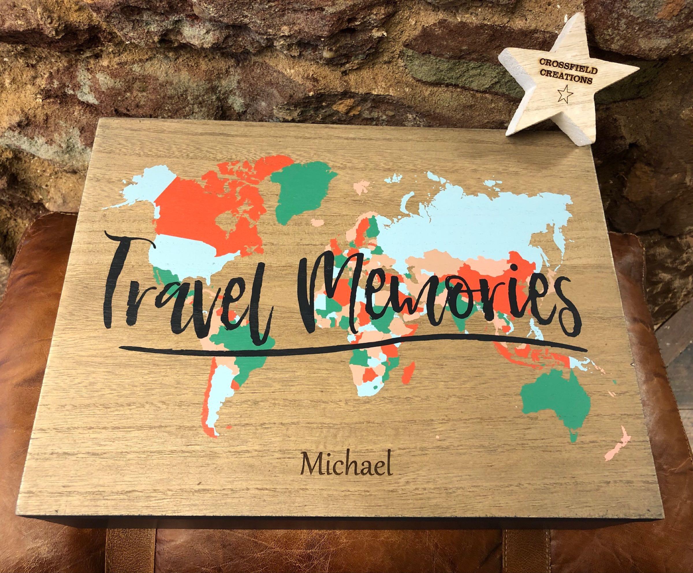 Travel Memories Storage Box - personalised