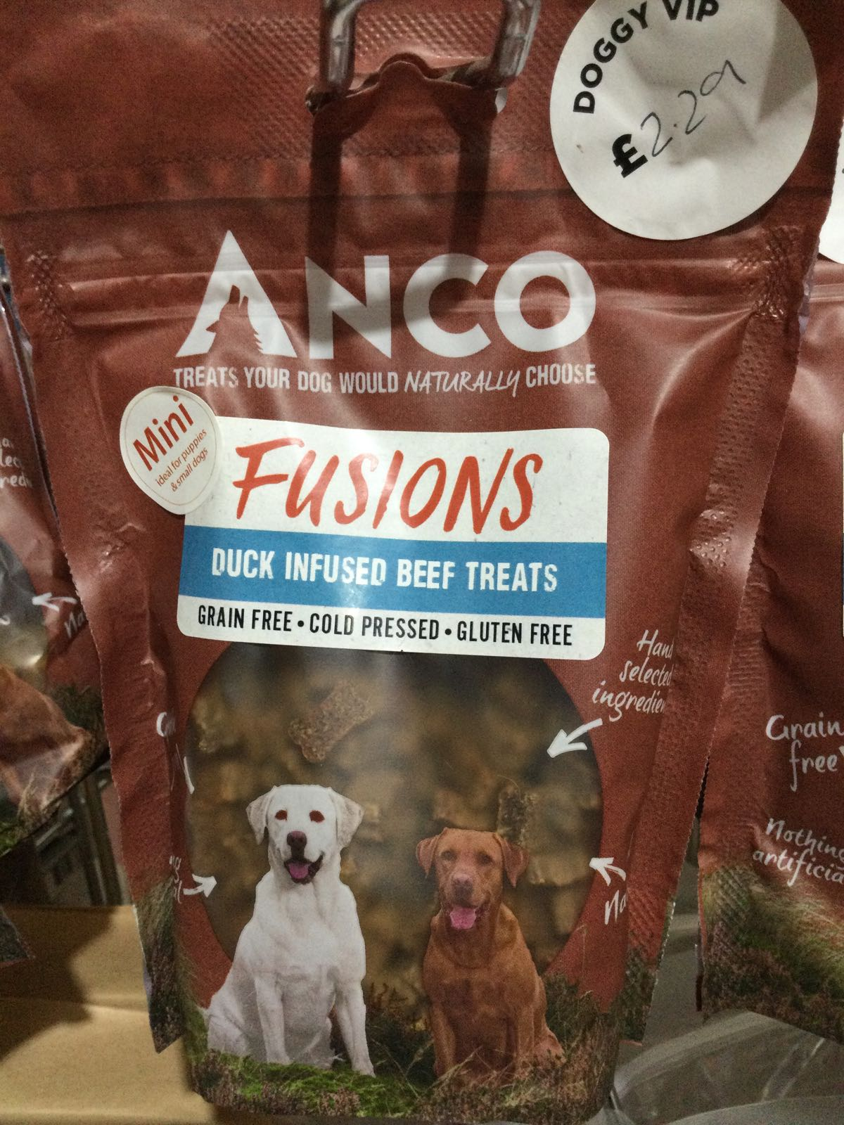 Anco Fusions Duck Infused Beef Mini Treats