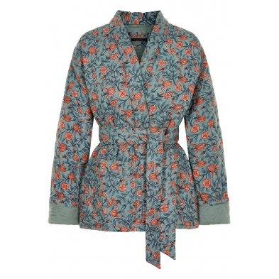 Quilted short kimono, simi denim Vibeke Scott