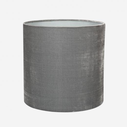 Silk velvet shade/pendant, grey 30x30 cm