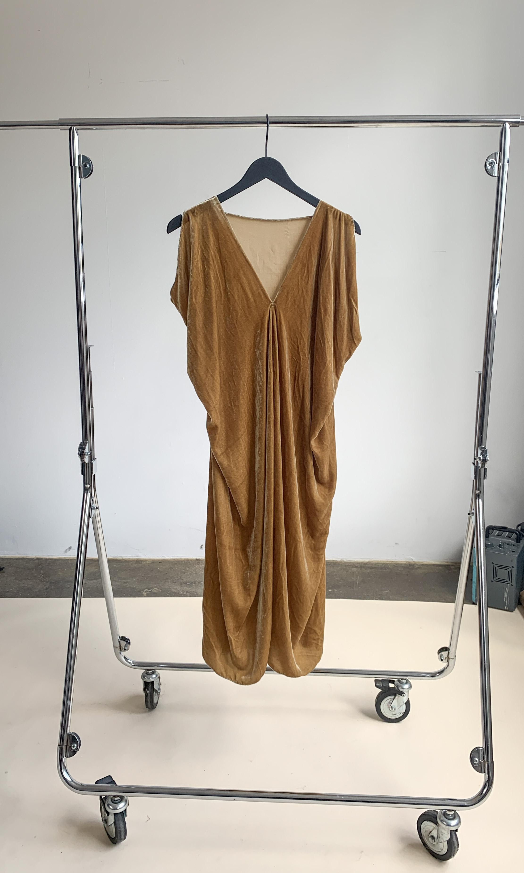 Myre Couture silk velvet dress