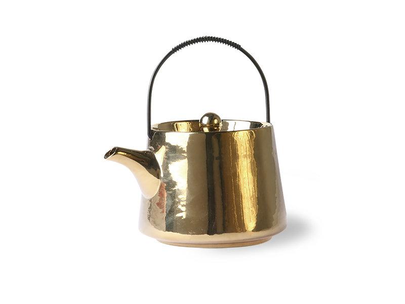 Teapot gold ceramic