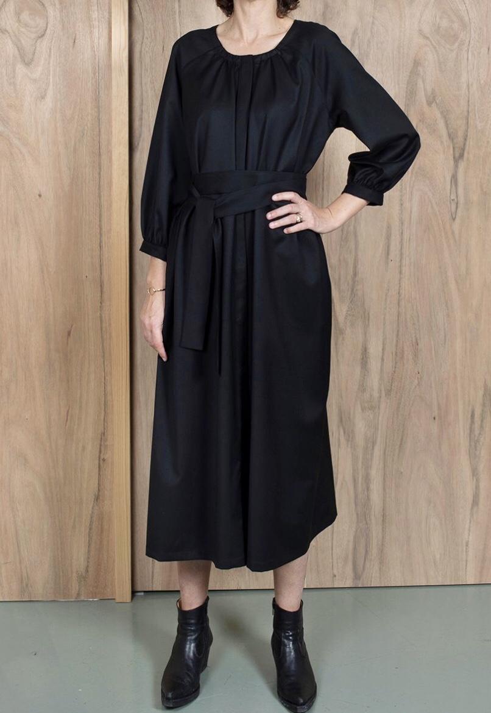 ASK X EMBLA Gudrun  dress black wool