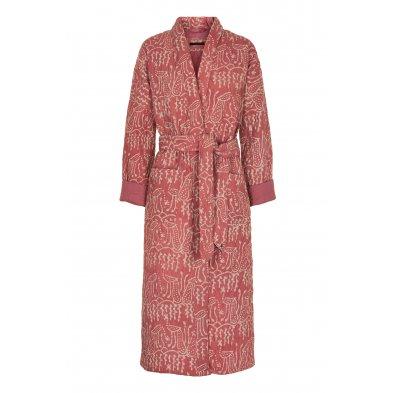 Quilted long kimono, simini dusty rose Vibeke Scott