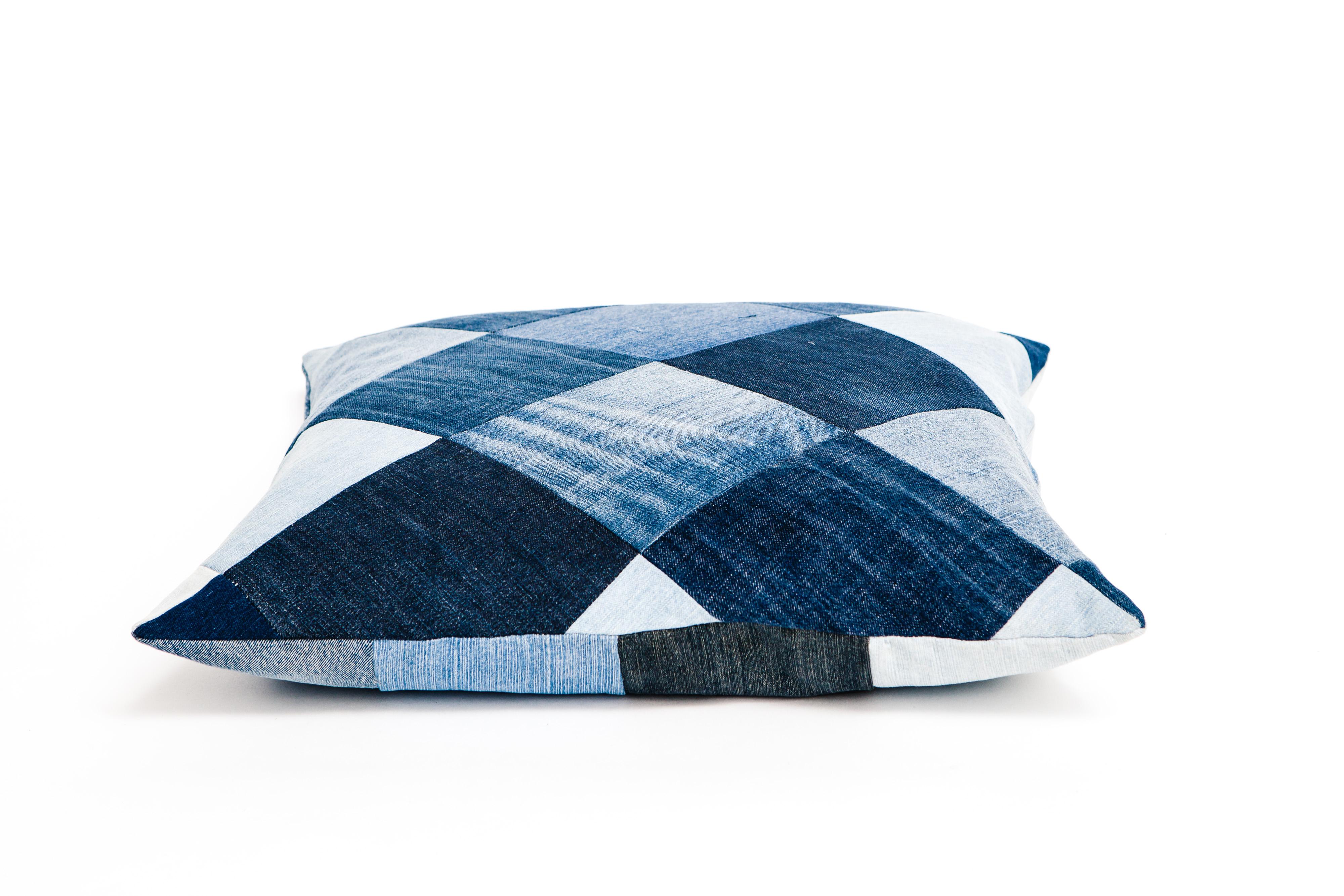 Naked Society Denim cushion mix 50x50 cm