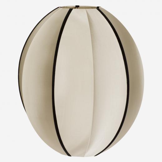 Silk pendant/shade, kit & black, 54x44 cm