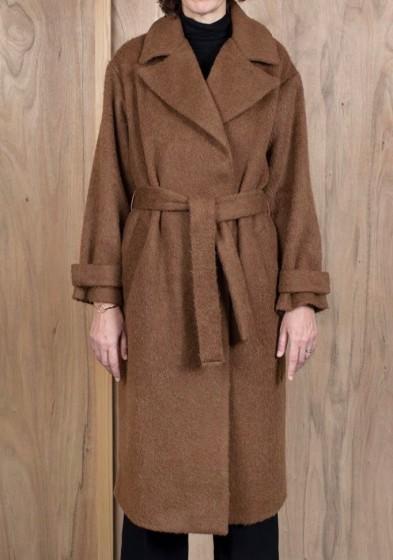 ASK X EMBLA Tiril coat in camel