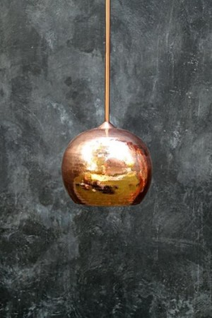 Nomad Living Apple copper lamp