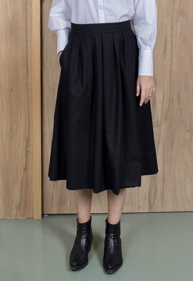 ASK X EMBLA  Thora wool cashmere skirt