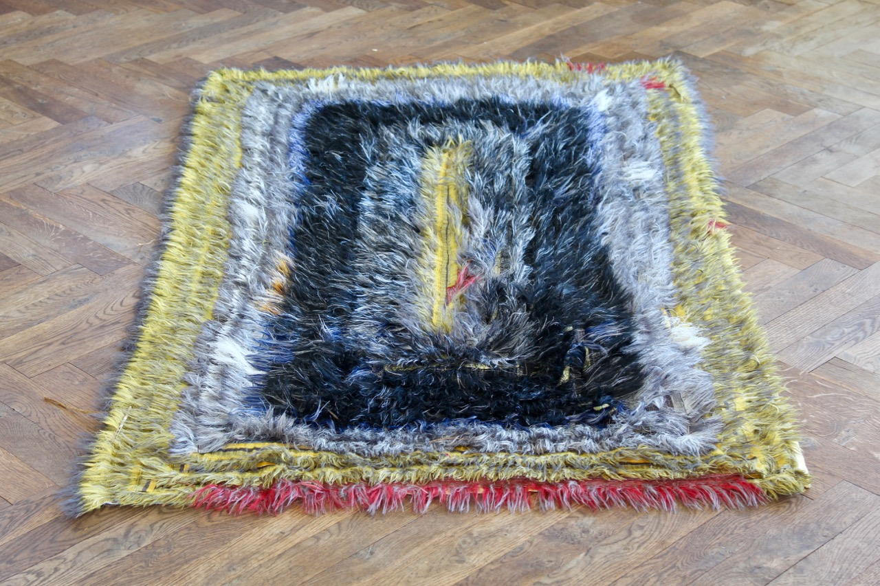 Upcycled rug onme of a kind, 105x155 cm