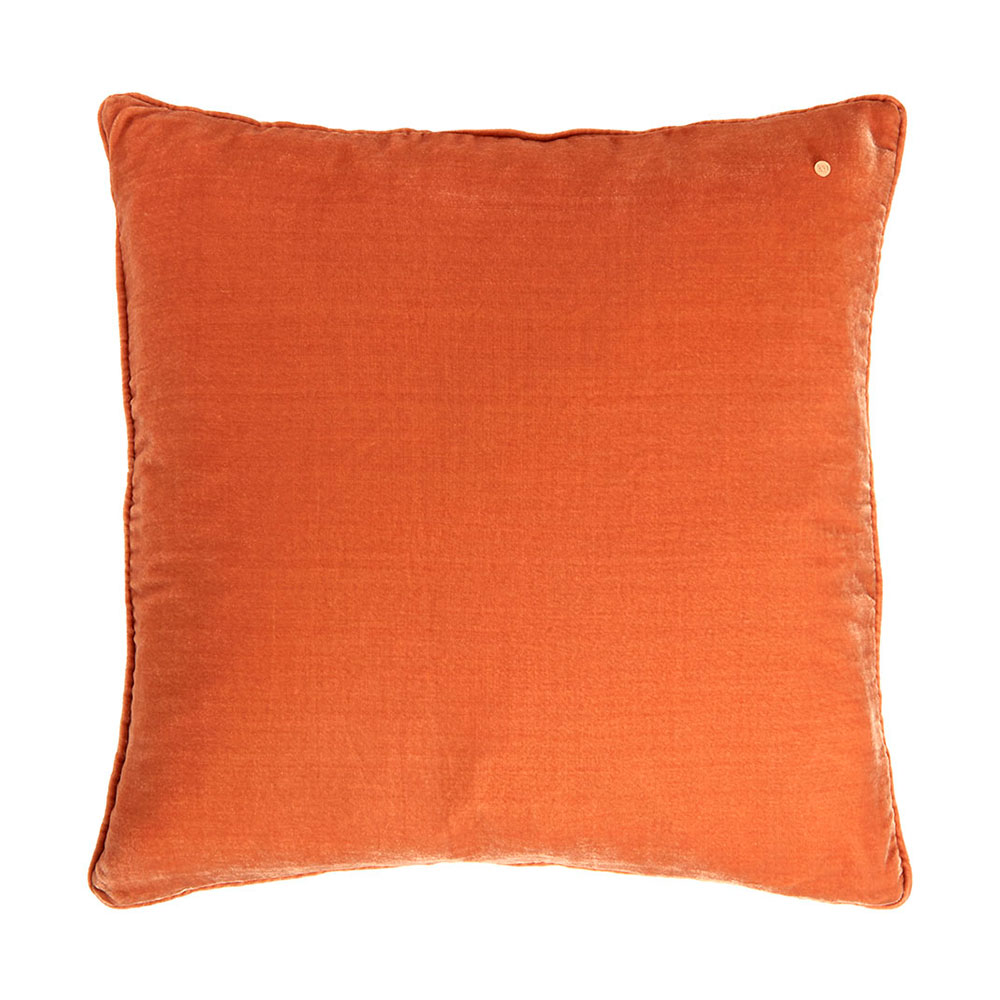 Silk velvet pillow, cobber