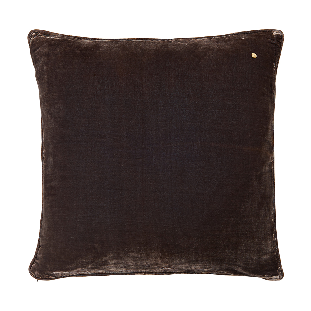 Silk velvet pillow, nougat