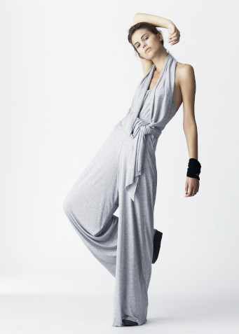 Naked Society, halterneck jumpsuit, grey melange