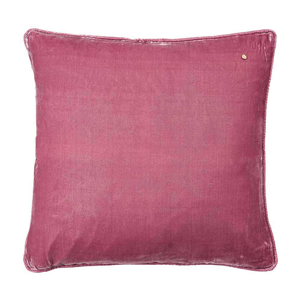 Silk velvet pillow, framboise