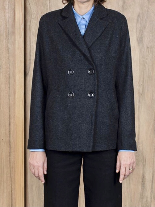 ASK X EMBLA  Gro jacket grey melange