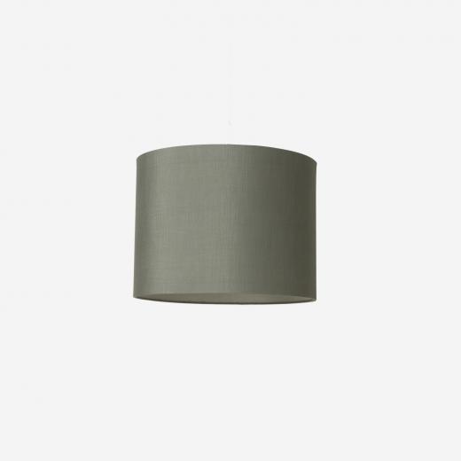 Raw silk shade/pendant, petrol 40x30 cm