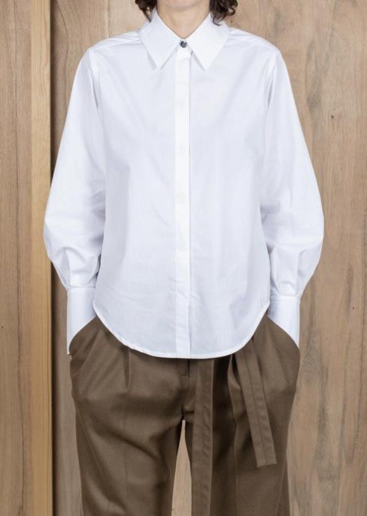 ASK X EMBLA Sigrid shirt white