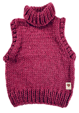 Vest mega knit, bourgendy