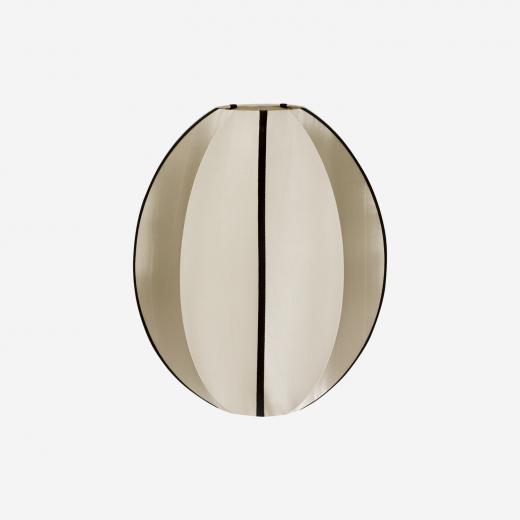 Silk pendant/shade, kit & black, 40x35 cm