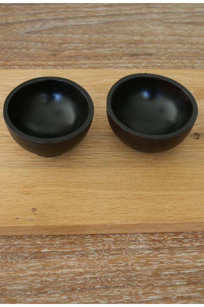 Teak salt & peber bowl Nomad Living