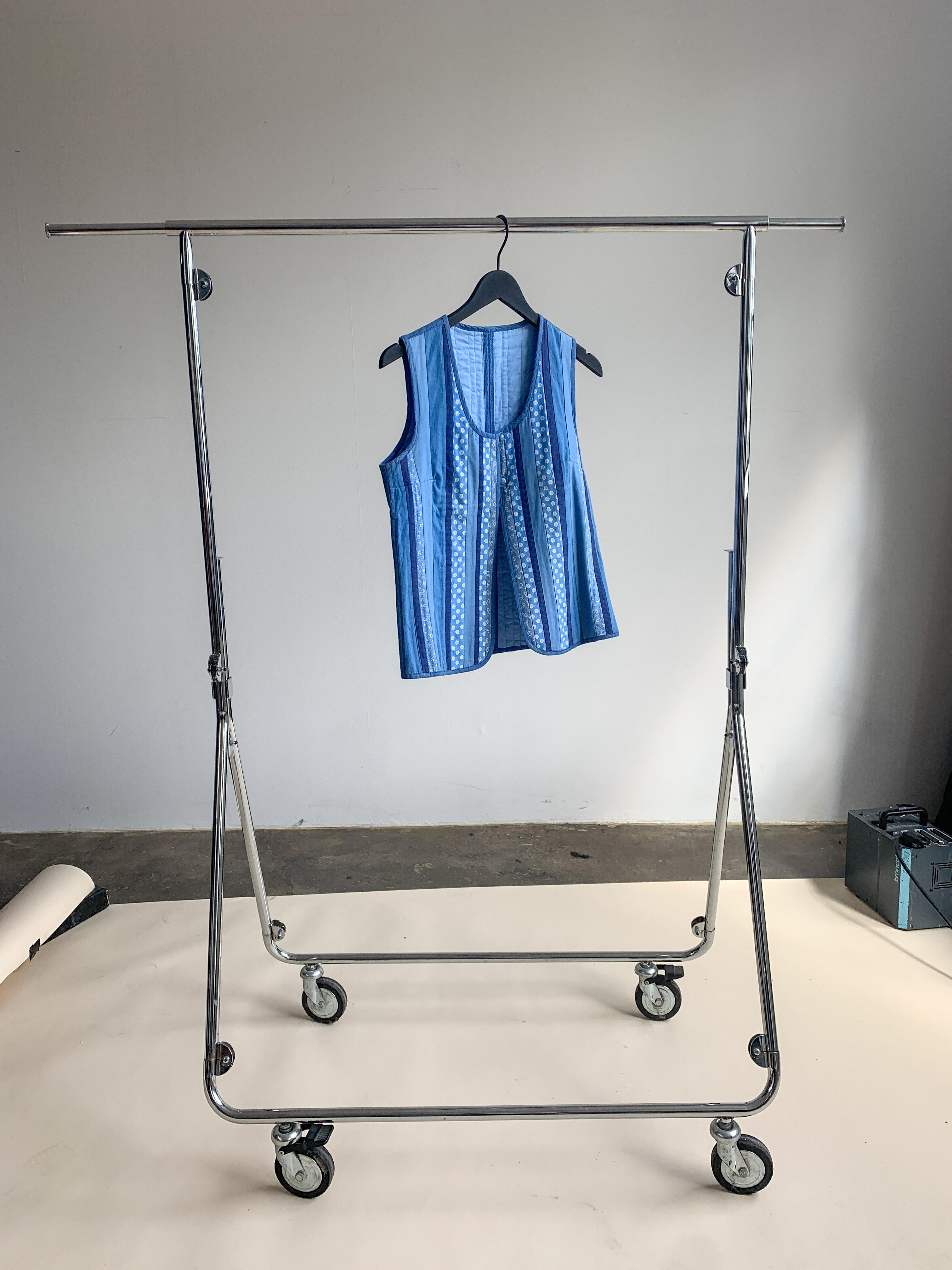 Myre Couture blue patchwork vest
