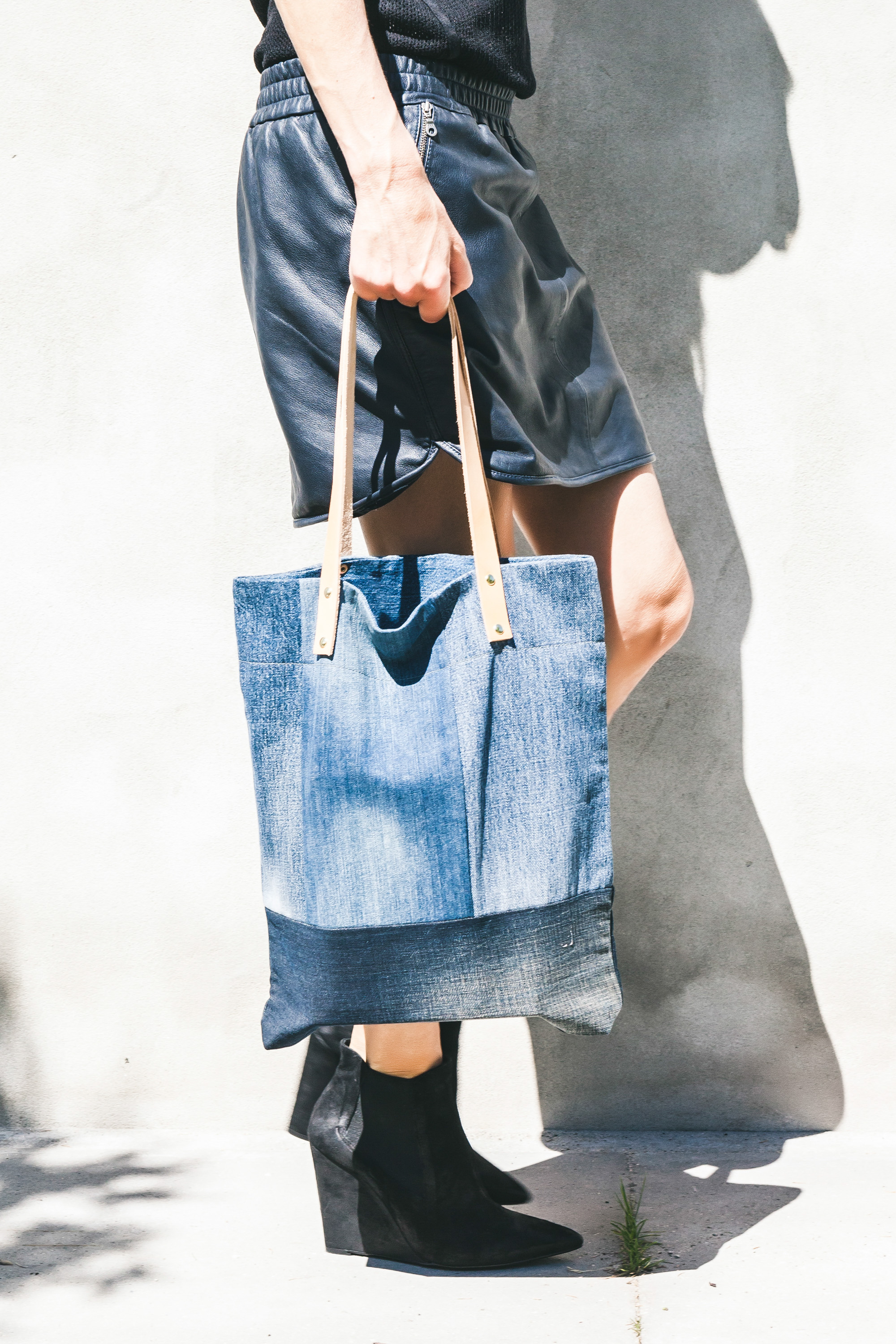 Naked Society denim shopper