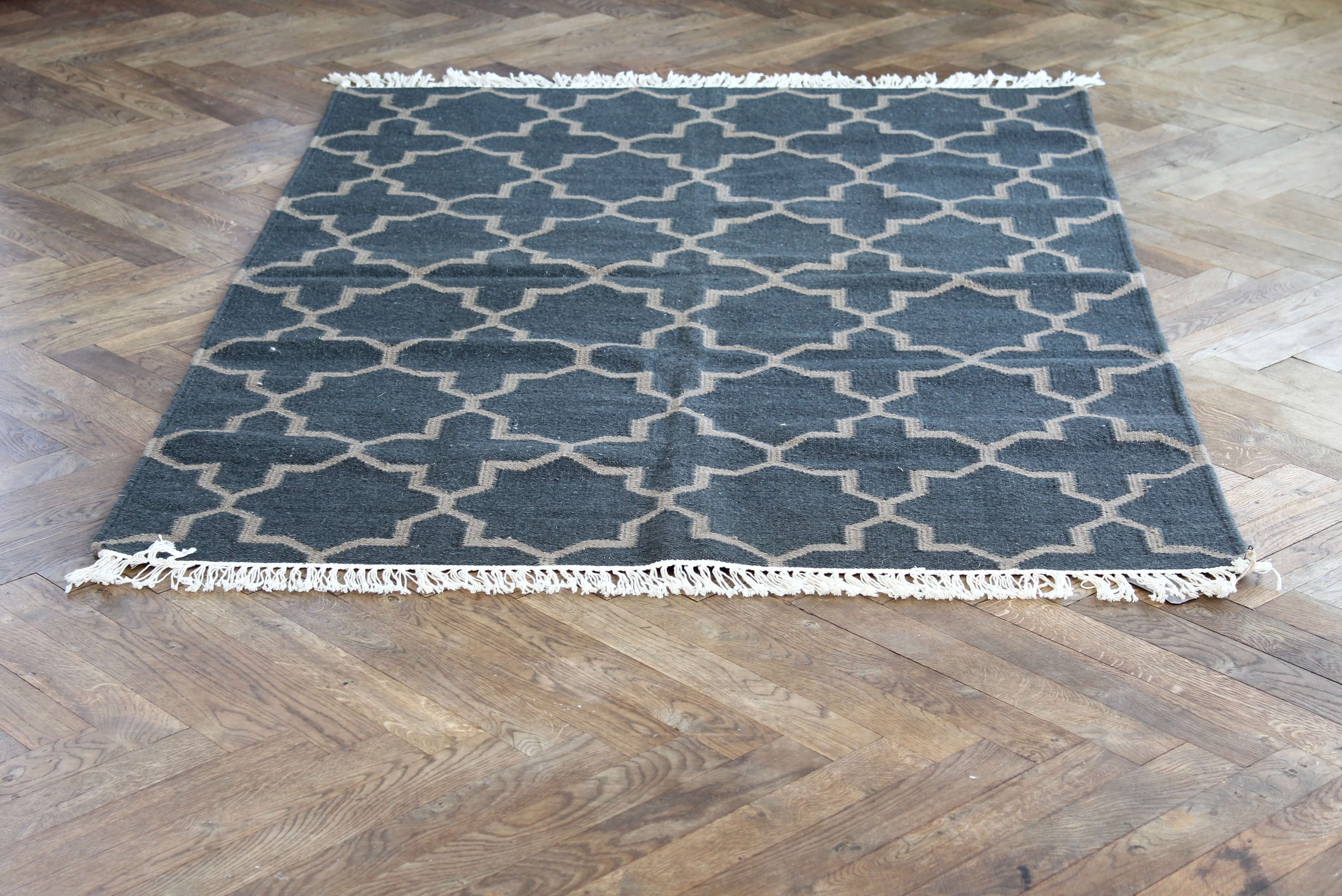 Nomad Living graphic rug charcoal 180*115