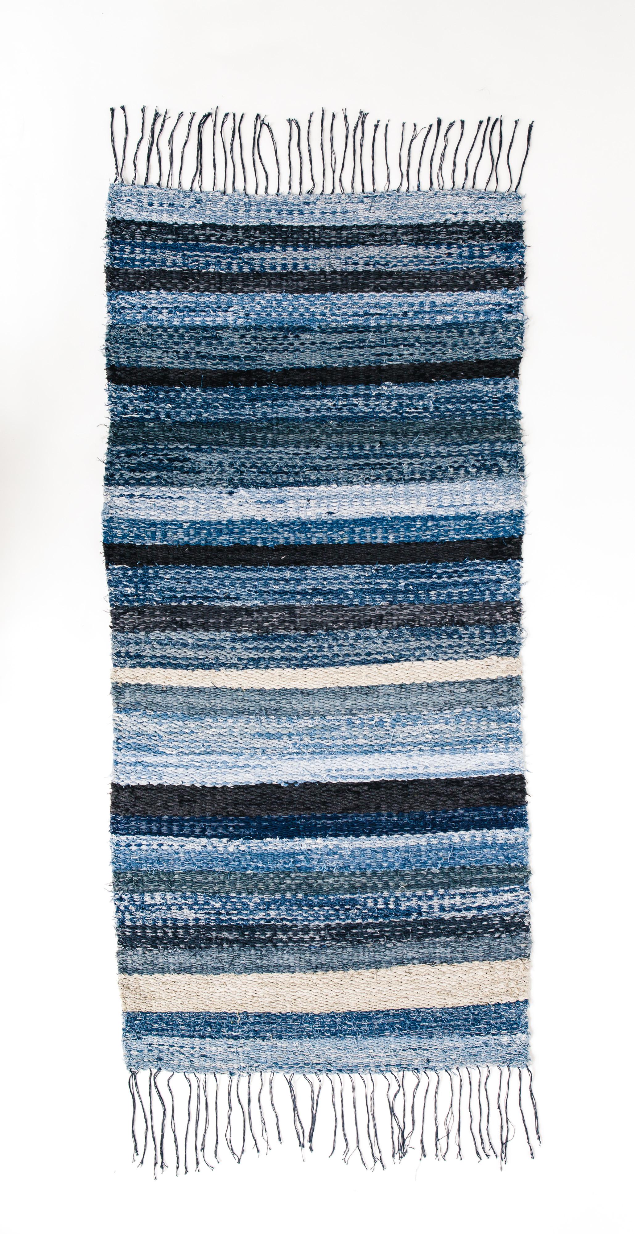 Naked Society mixed denim rug, 3 sizes